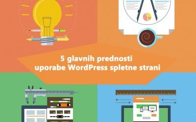 Izdelava spletnih strani wordpress: 5x prednost uporabe