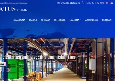 Spletna stran za hrvaški trg