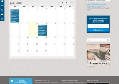 Izobraževanje s koledarčkom dogodkov
