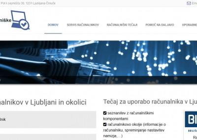 Pogled na spletno stran na laptopu