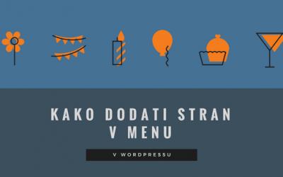 Video: Kako dodati stran v menu v WordPressu?